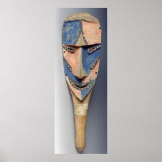 Tenon mask, from Ile de Vao, New Caledonia Posters
