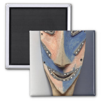 Tenon mask, from Ile de Vao, New Caledonia Square Magnet