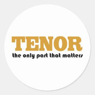Tenor Attitude Classic Round Sticker