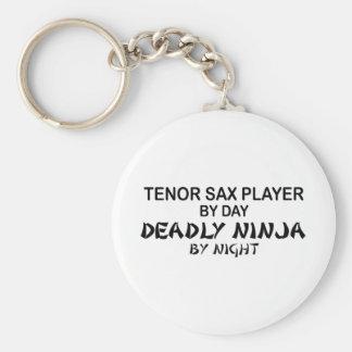 Tenor Sax Deadly Ninja by Night Key Ring