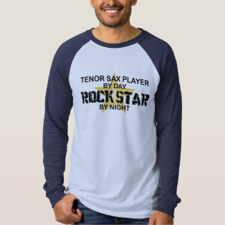 Tenor Sax Rock Star by Night T-shirts