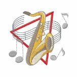 Tenor Saxophone Embroidered Polo Shirt