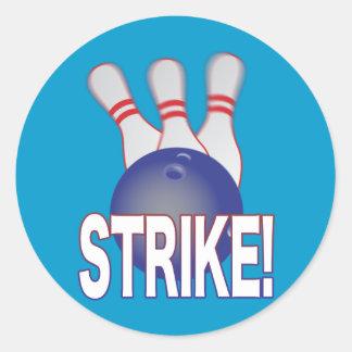 Tenpin Bowling Round Sticker