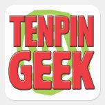 Tenpin Geek Square Stickers