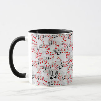 Tens, Poker Cards, Black Combo Coffee Mug