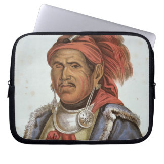 Tenskwatawa (1775-1836) (colour litho) laptop sleeve