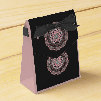 Tent Favour Box Rose and black