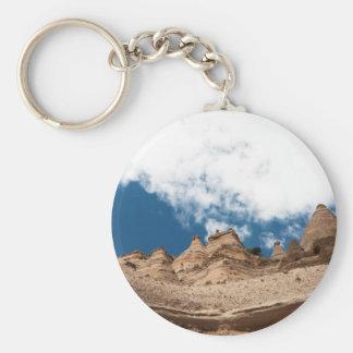 Tent Rocks Mountains New Mexico Basic Round Button Key Ring