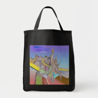 Tents Abstract Design Grocery Tote Bag