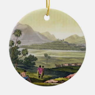 Teocalli, the Great Temple at Tenochtitlan, Mexico Christmas Ornament