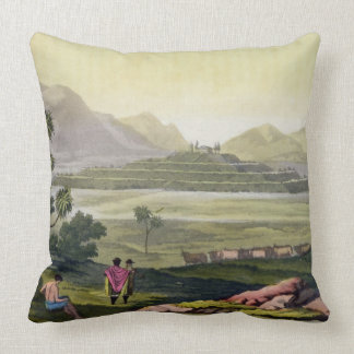 Teocalli the Great Temple at Tenochtitlan Mexico Throw Pillows