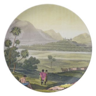 Teocalli, the Great Temple at Tenochtitlan, Mexico Plate