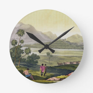 Teocalli, the Great Temple at Tenochtitlan, Mexico Wall Clocks