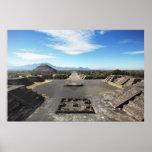 Teotihuacan ruins poster