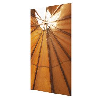 Tepee interior canvas print