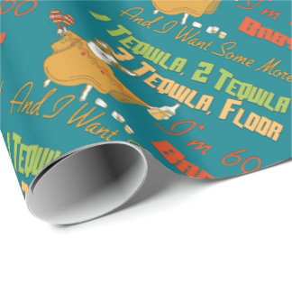 Tequila 60th Birthday Party Collection Wrapping Paper