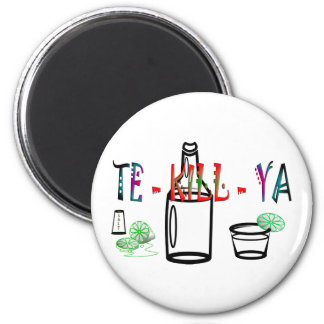 Tequila 6 Cm Round Magnet