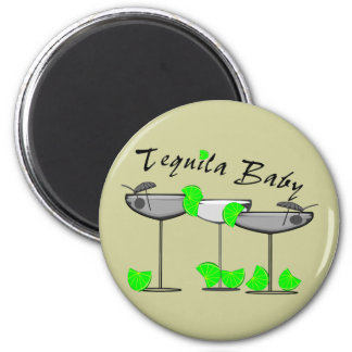 """""""Tequila Baby"""" - Tquila Lovers Womens T-Shirts 6 Cm Round Magnet"""