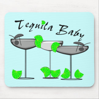 Tequila Baby - Tquila Lovers Womens T-Shirts Mouse Mats