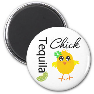 Tequila Chick 6 Cm Round Magnet