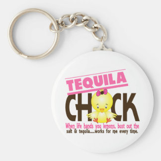Tequila Chick Basic Round Button Key Ring