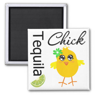 Tequila Chick Square Magnet