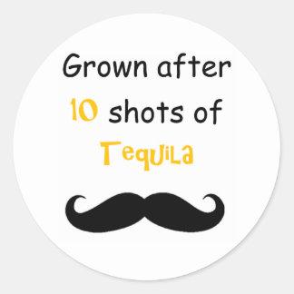 Tequila Classic Round Sticker