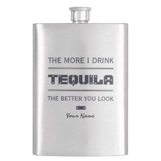 TEQUILA custom monogram flask