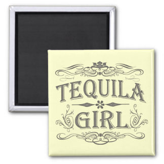 Tequila Girl Square Magnet