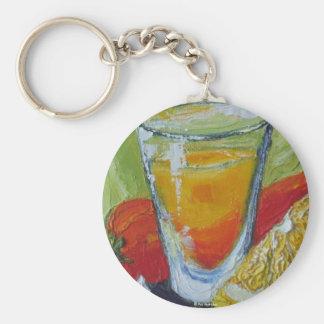 Tequila Shot Basic Round Button Key Ring