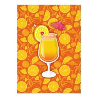 Tequila sunrise 11 cm x 16 cm invitation card