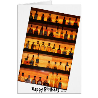 Tequila Sunrise Birthday Card