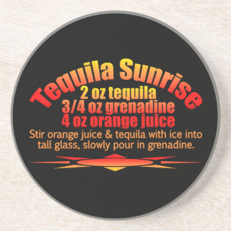 Tequila Sunrise coaster
