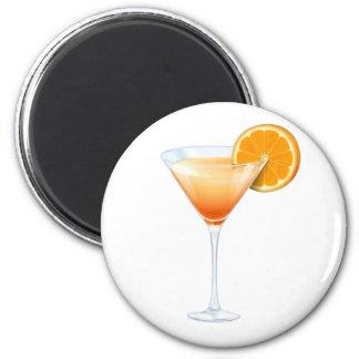 Tequila Sunrise Cocktail 6 Cm Round Magnet