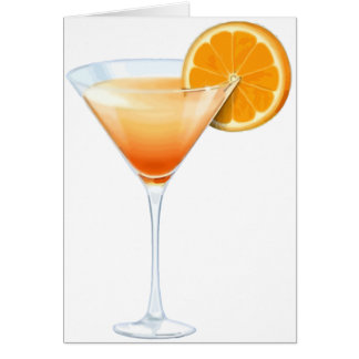 Tequila Sunrise Cocktail Card