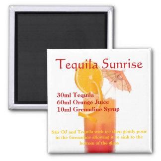 Tequila Sunrise Cocktail Magnet