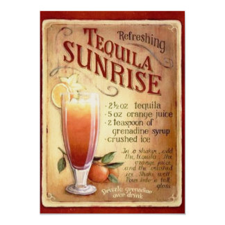 Tequila Sunrise Cocktail Party  Invitation