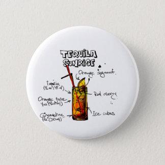 Tequila Sunrise Cocktail Recipe 6 Cm Round Badge
