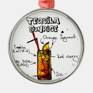 Tequila Sunrise Cocktail Recipe Christmas Ornament