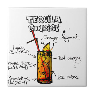 Tequila Sunrise Cocktail Recipe Tile