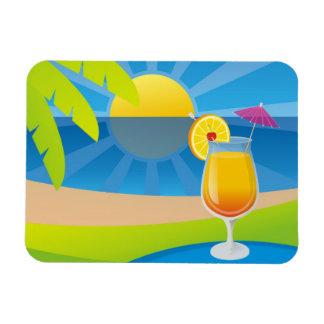 Tequila Sunrise Rectangular Magnet