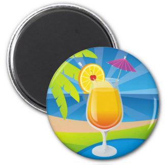 Tequila Sunrise Refrigerator Magnet