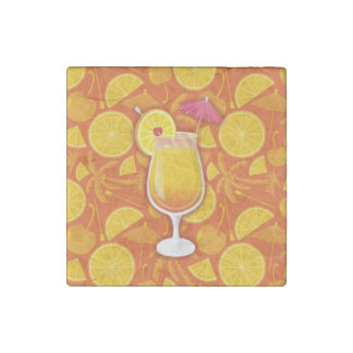 Tequila sunrise stone magnet