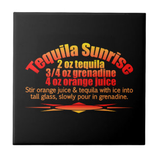 Tequila Sunrise tile