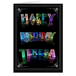 Teresa -  Name in Lights greeting card (Photo)