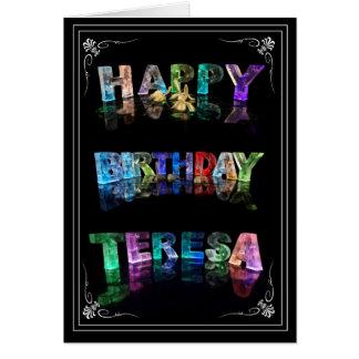 Teresa -  Name in Lights greeting card (Photo)