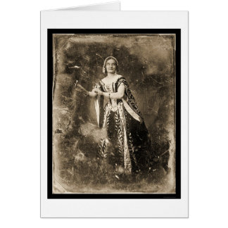 Teresa Truffi Daguerreotype 1848 Greeting Card