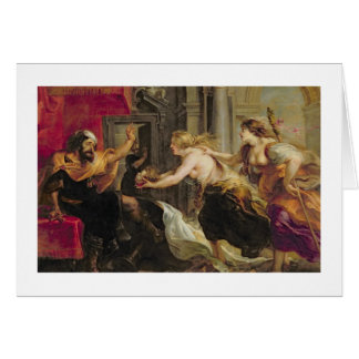 Tereus confronted with the head of his son Itylus, Greeting Card