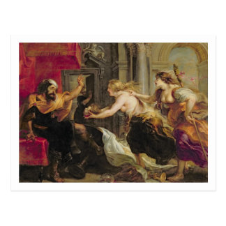 Tereus confronted with the head of his son Itylus, Postcard