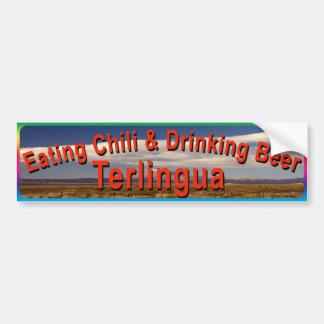 Terlingua Eating Chile Bumper Sticker